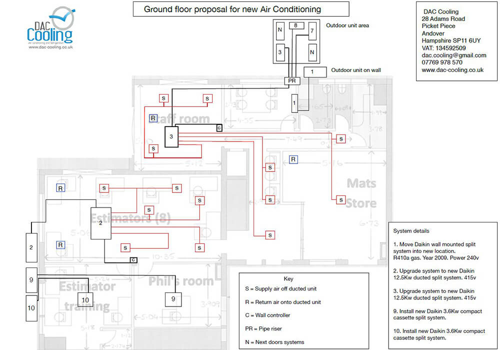 Ground floor proposal for new air conditioning
